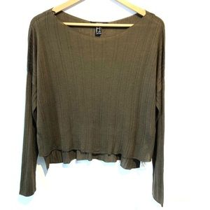 5/25$ Forever 21 | loose army green sweater